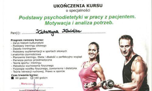 CERTYFIKAT PSYCHODIETETYKA